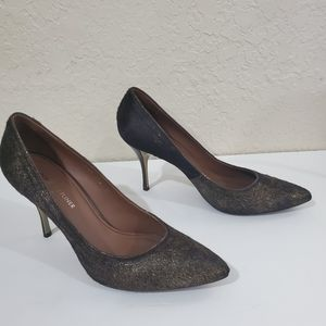 Donald Pliner BRAVESP Calf Hair Bronze Heels 9.5